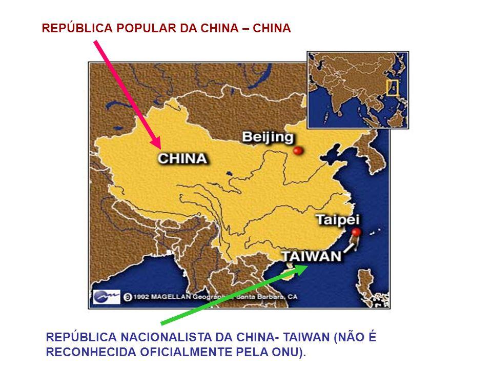 REPÚBLICA POPULAR DA CHINA – CHINA