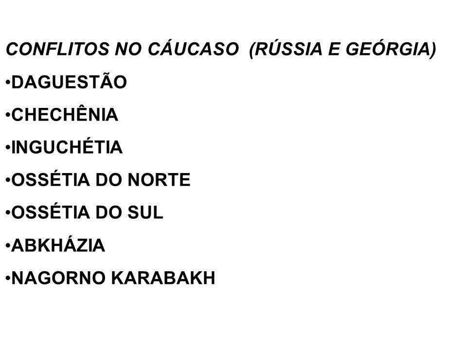 CONFLITOS NO CÁUCASO (RÚSSIA E GEÓRGIA)