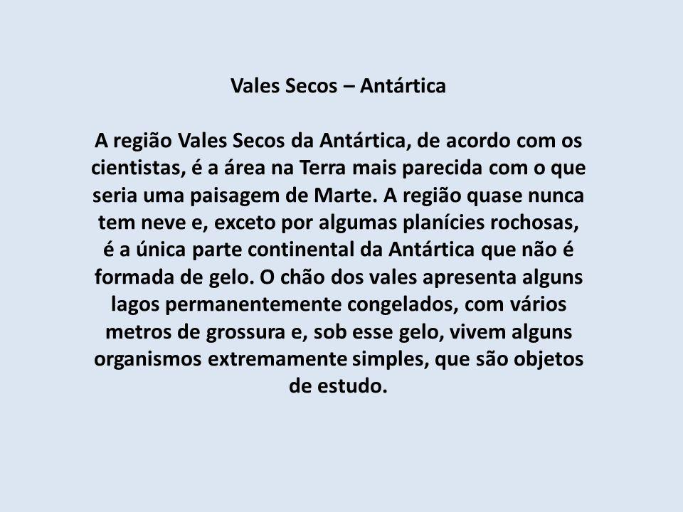Vales Secos – Antártica