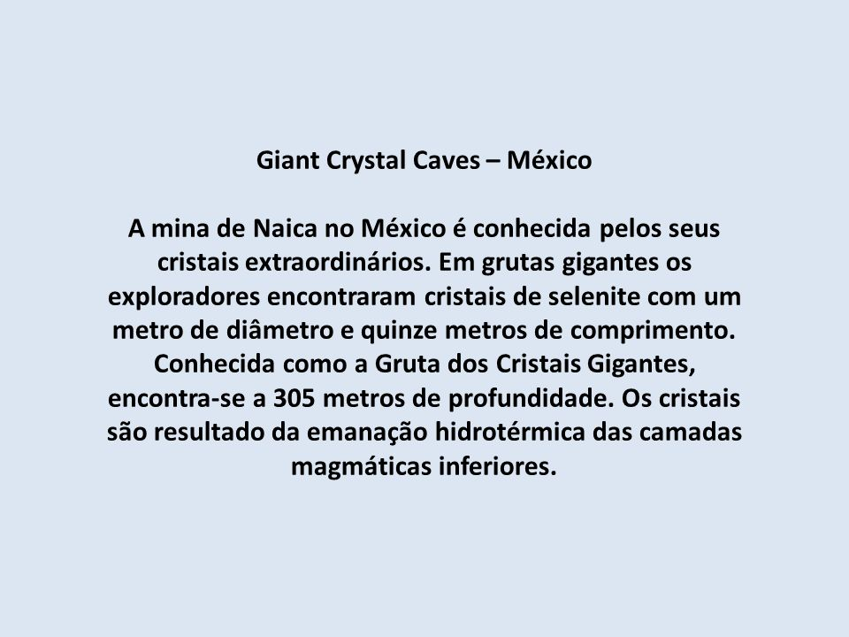 Giant Crystal Caves – México