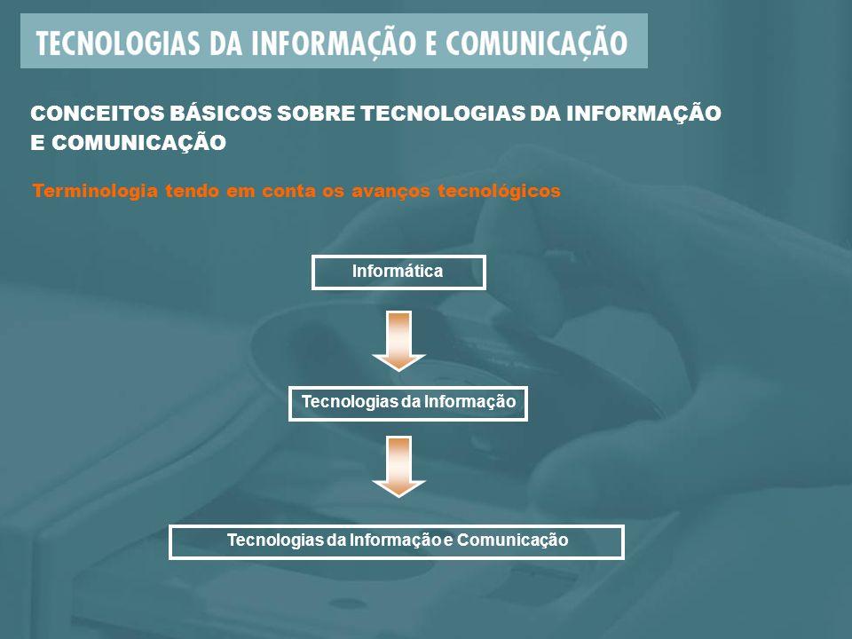 Tecnologias da Informação Tecnologias da Informação e Comunicação