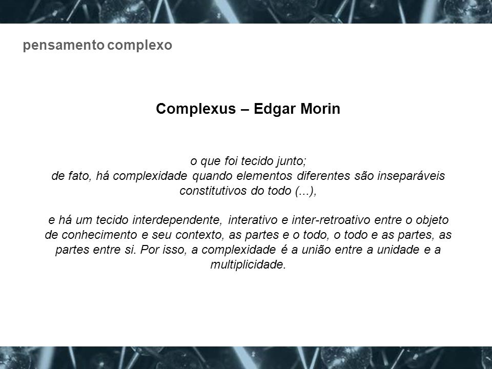 Complexus – Edgar Morin