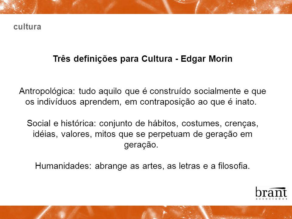 Três definições para Cultura - Edgar Morin