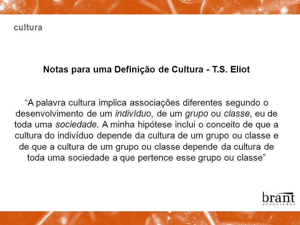 Notas para uma Definição de Cultura - T.S. Eliot