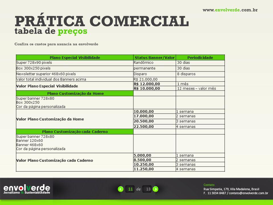 Plano Especial Visibilidade Plano Customização cada Caderno