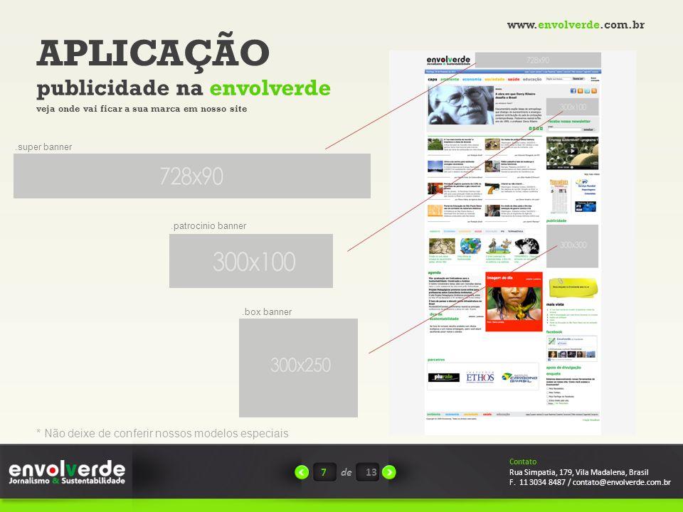 APLICAÇÃO publicidade na envolverde www.envolverde.com.br