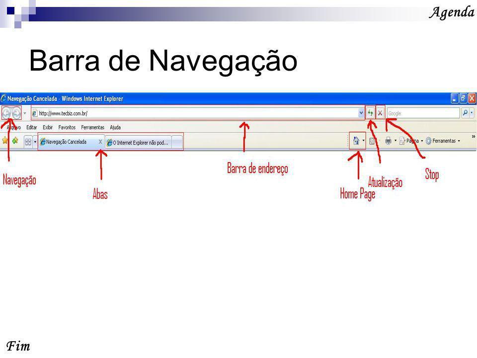 Agenda Barra de Navegação Fim