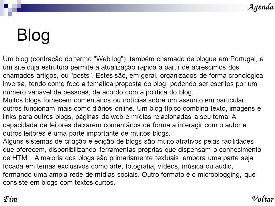 Agenda Blog.