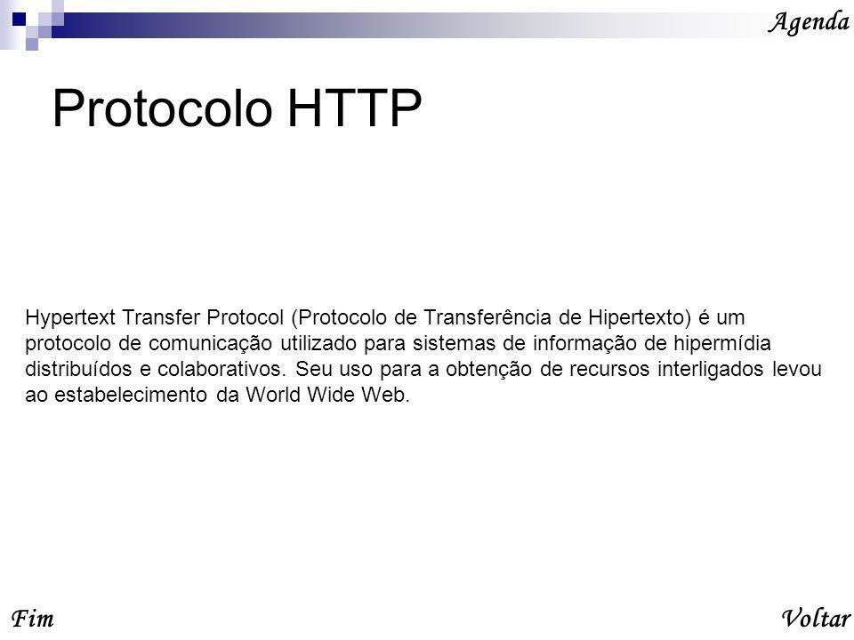Protocolo HTTP Agenda Fim Voltar