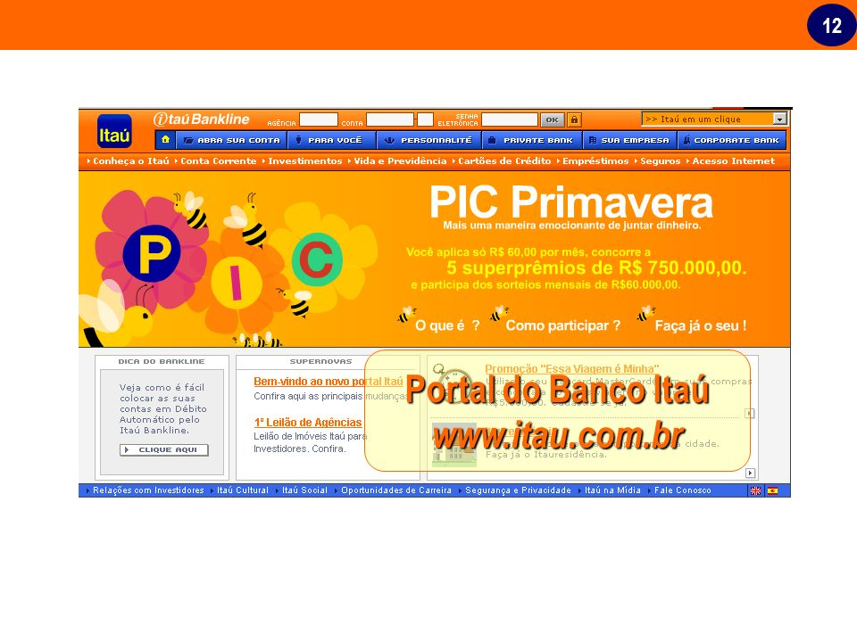 Portal do Banco Itaú www.itau.com.br