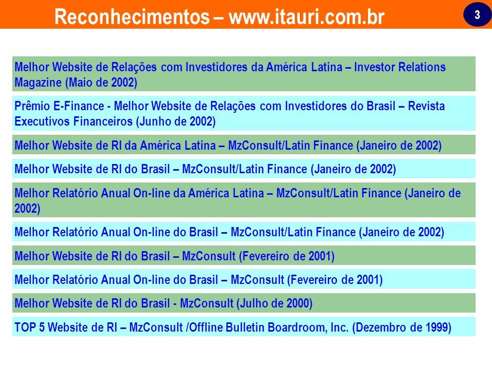 Reconhecimentos – www.itauri.com.br