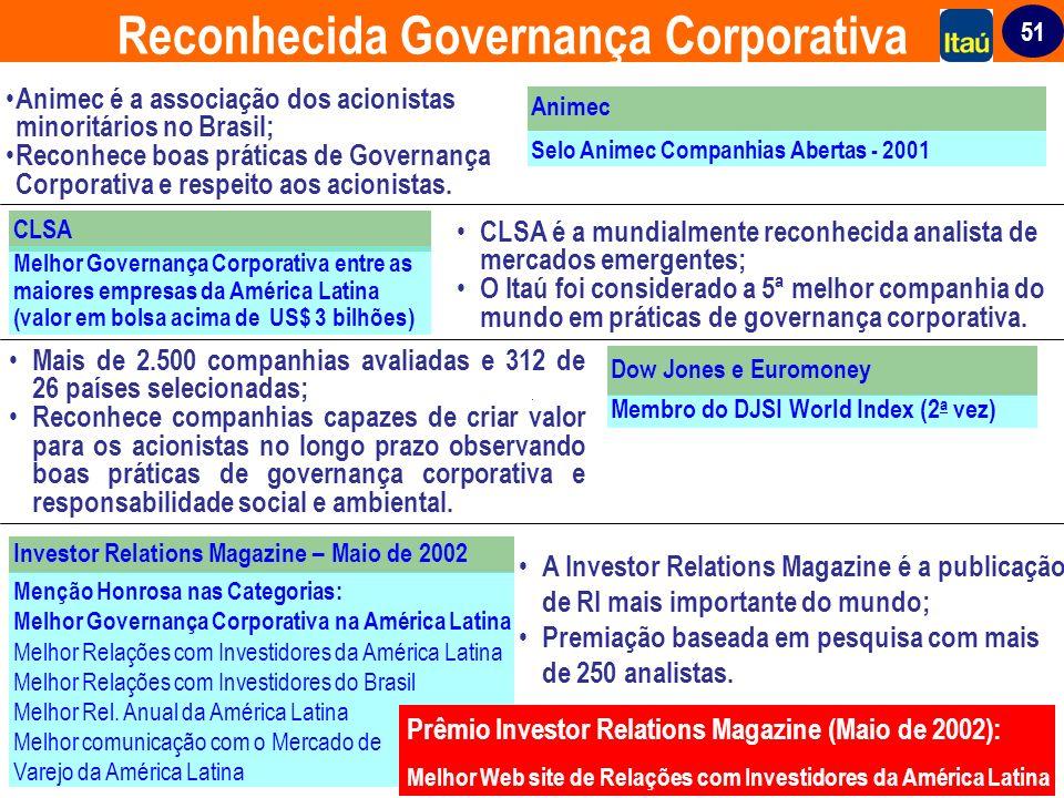 Reconhecida Governança Corporativa