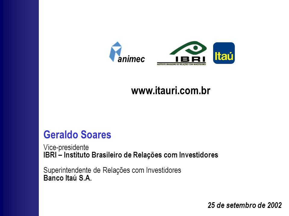 www.itauri.com.br Geraldo Soares animec Vice-presidente