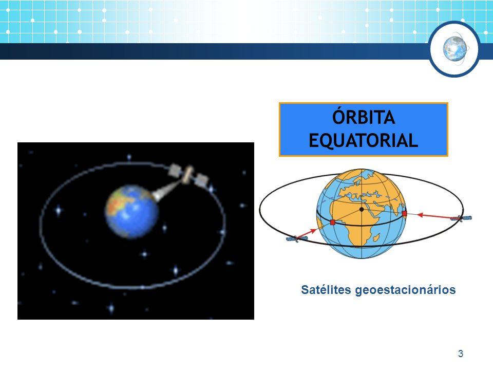 ÓRBITA EQUATORIAL Satélites geoestacionários