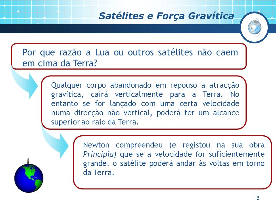 Satélites e Força Gravítica