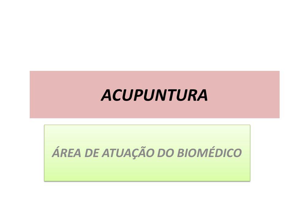 ÁREA DE ATUAÇÃO DO BIOMÉDICO