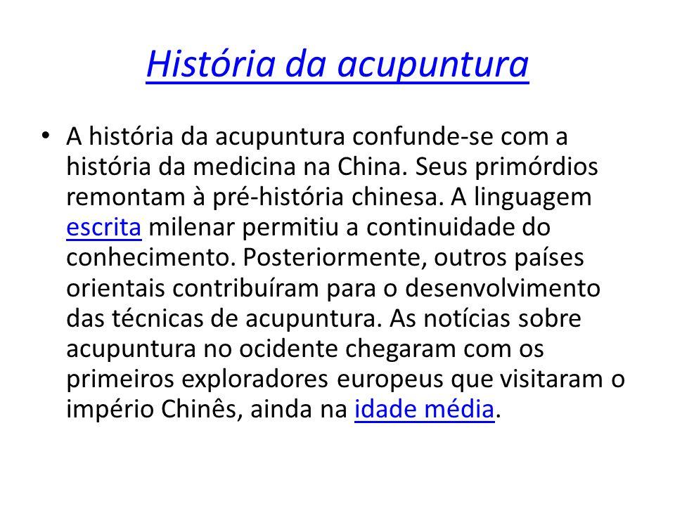 História da acupuntura