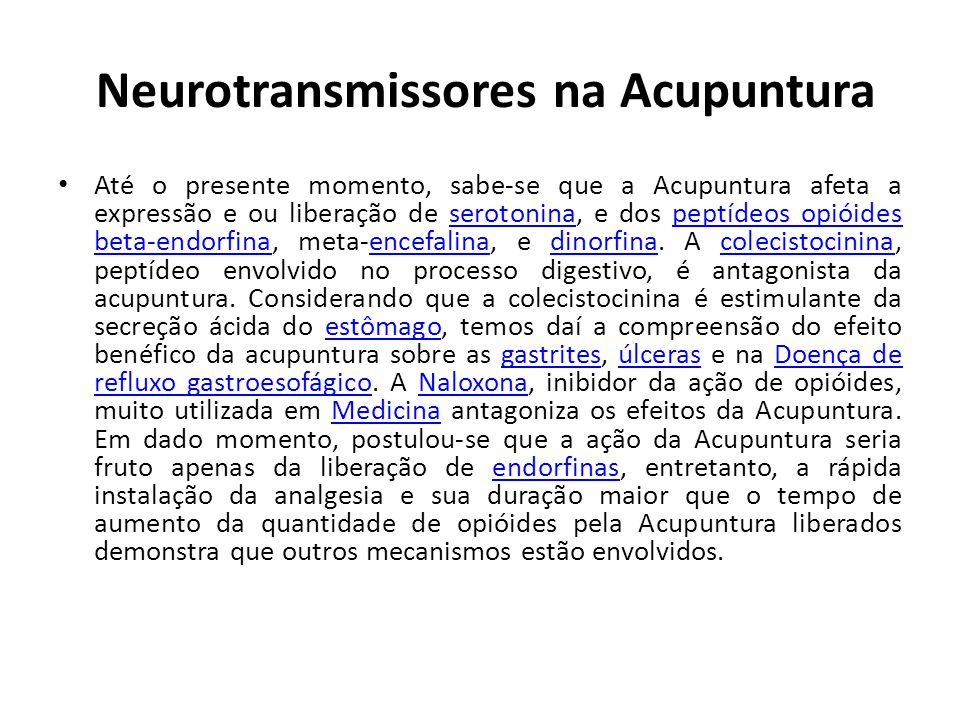 Neurotransmissores na Acupuntura