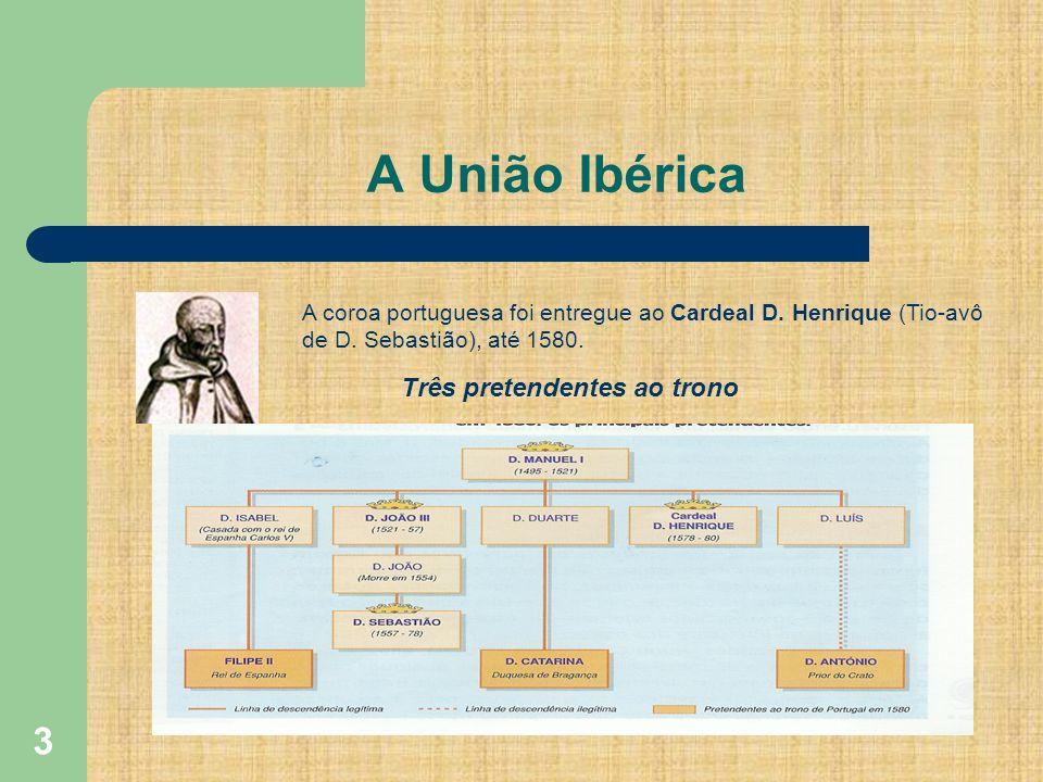 A União Ibérica Três pretendentes ao trono