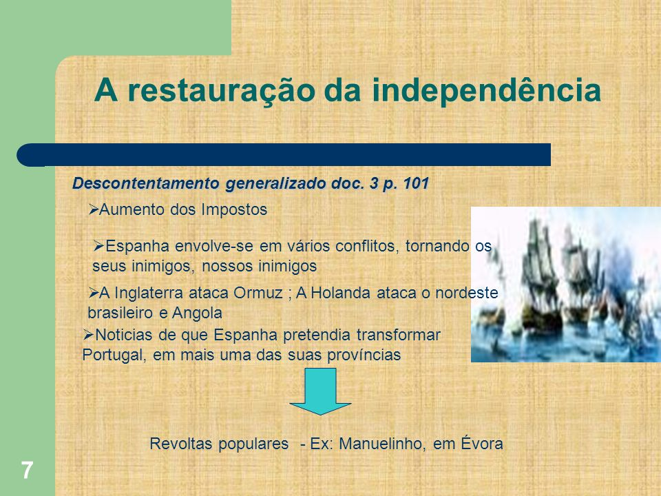 A restauração da independência