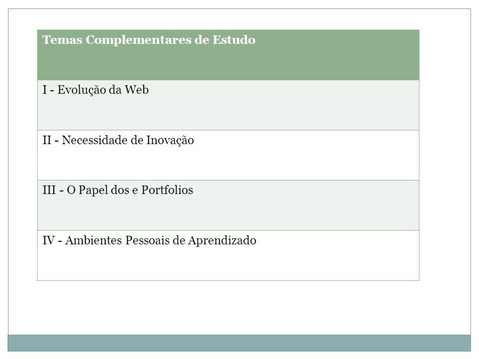 Temas Complementares de Estudo