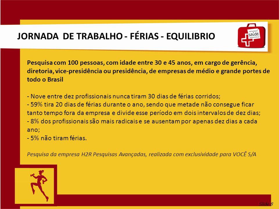 JORNADA DE TRABALHO - FÉRIAS - EQUILIBRIO