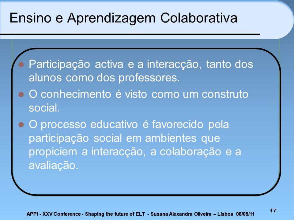 Ensino e Aprendizagem Colaborativa