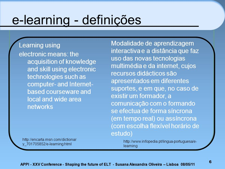 e-learning - definições
