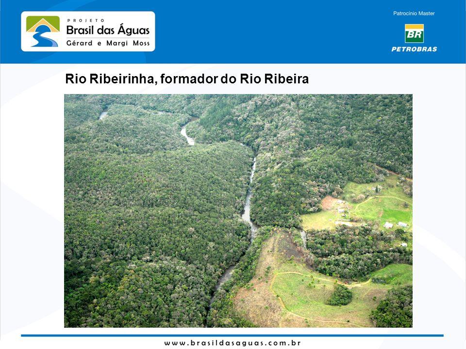 Rio Ribeirinha, formador do Rio Ribeira