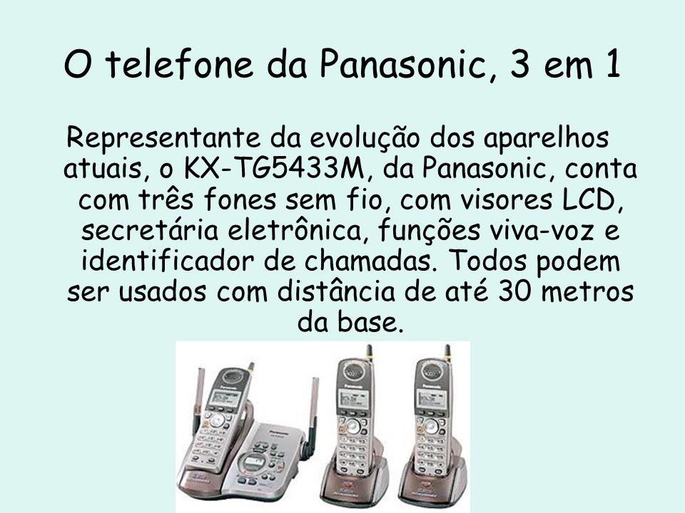 O telefone da Panasonic, 3 em 1