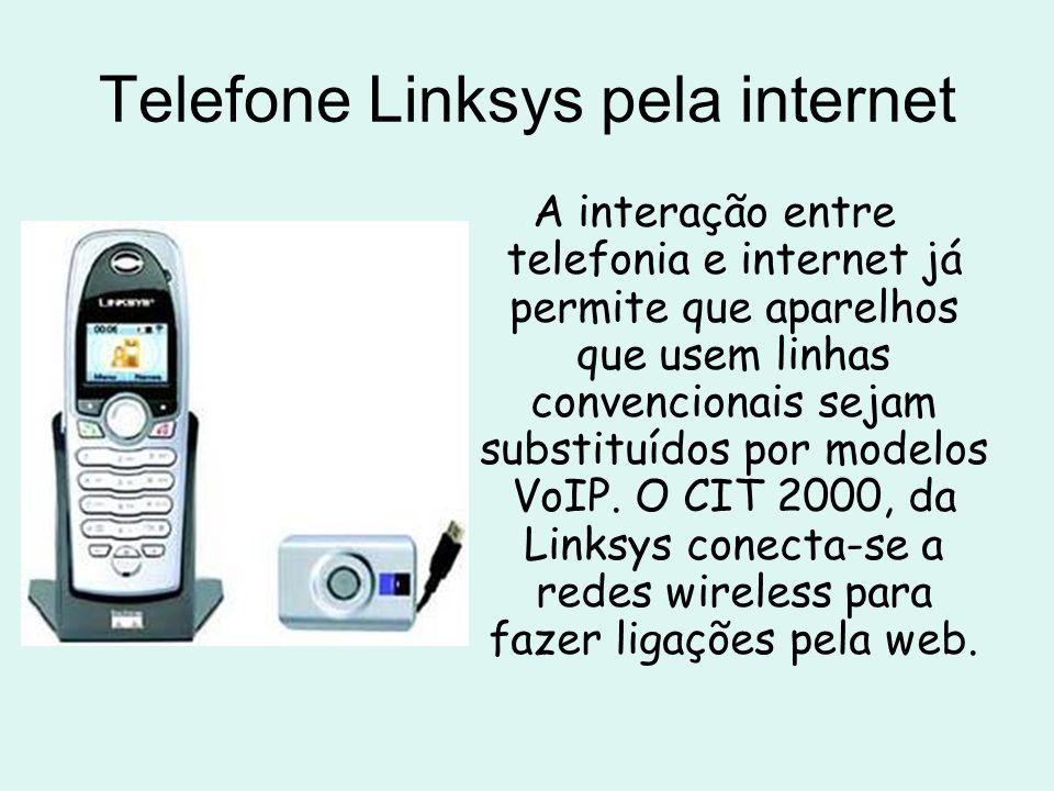 Telefone Linksys pela internet