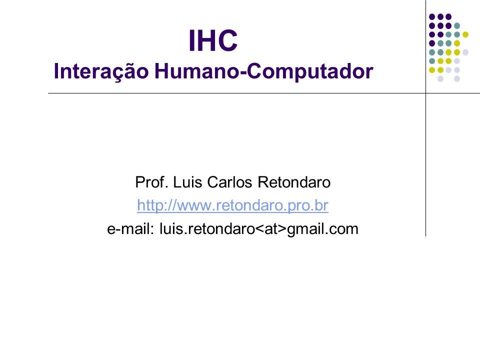 IHC Interação Humano-Computador