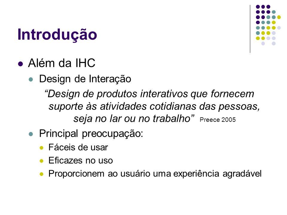 Introdução Além da IHC Design de Interação