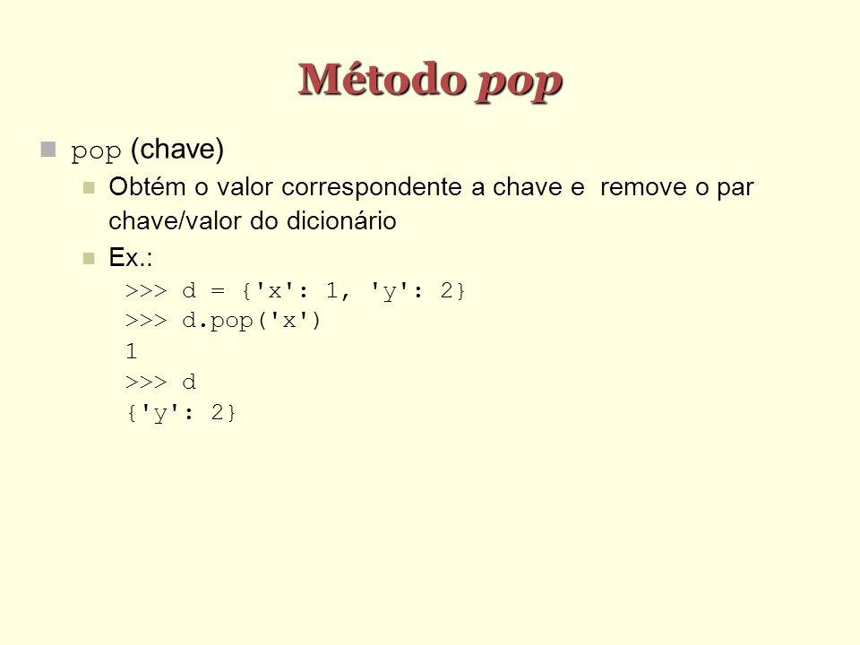 Método pop pop (chave)