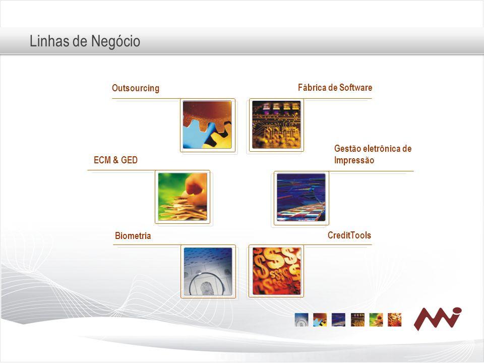Linhas de Negócio Outsourcing Fábrica de Software Gestão eletrônica de