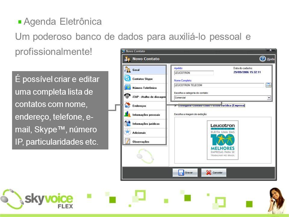 Agenda Eletrônica Um poderoso banco de dados para auxiliá-lo pessoal e profissionalmente!