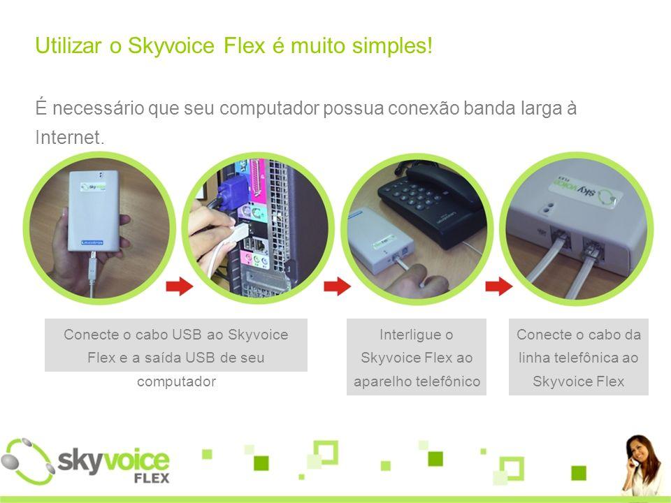Utilizar o Skyvoice Flex é muito simples!