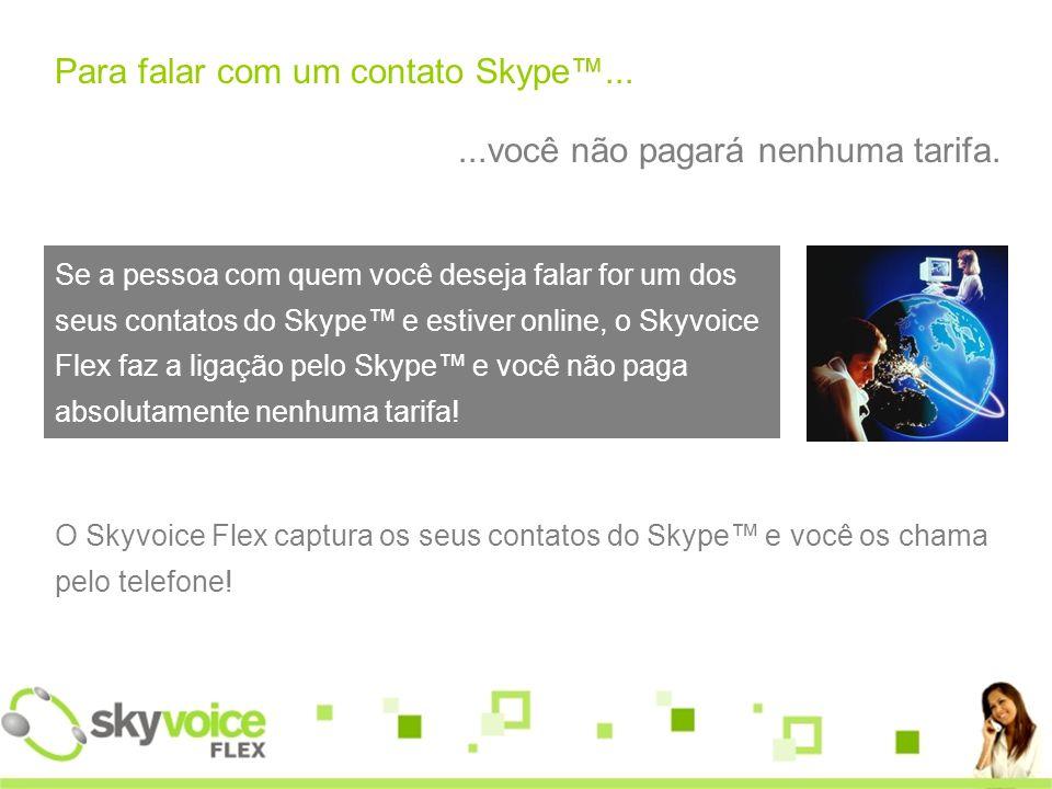 Para falar com um contato Skype™...