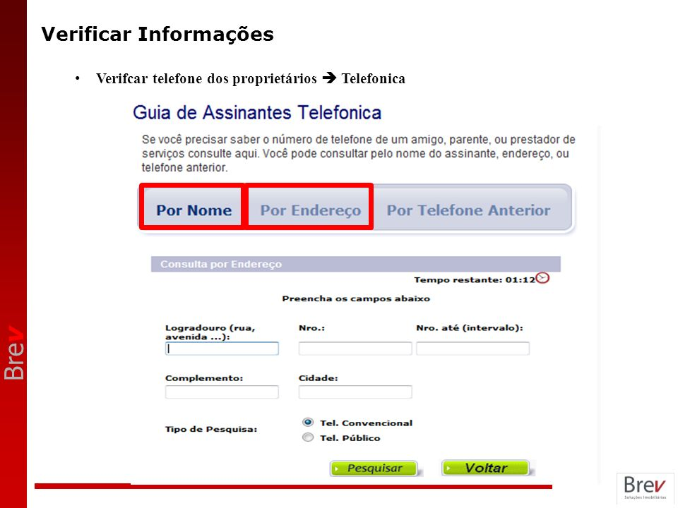 Verificar Informações
