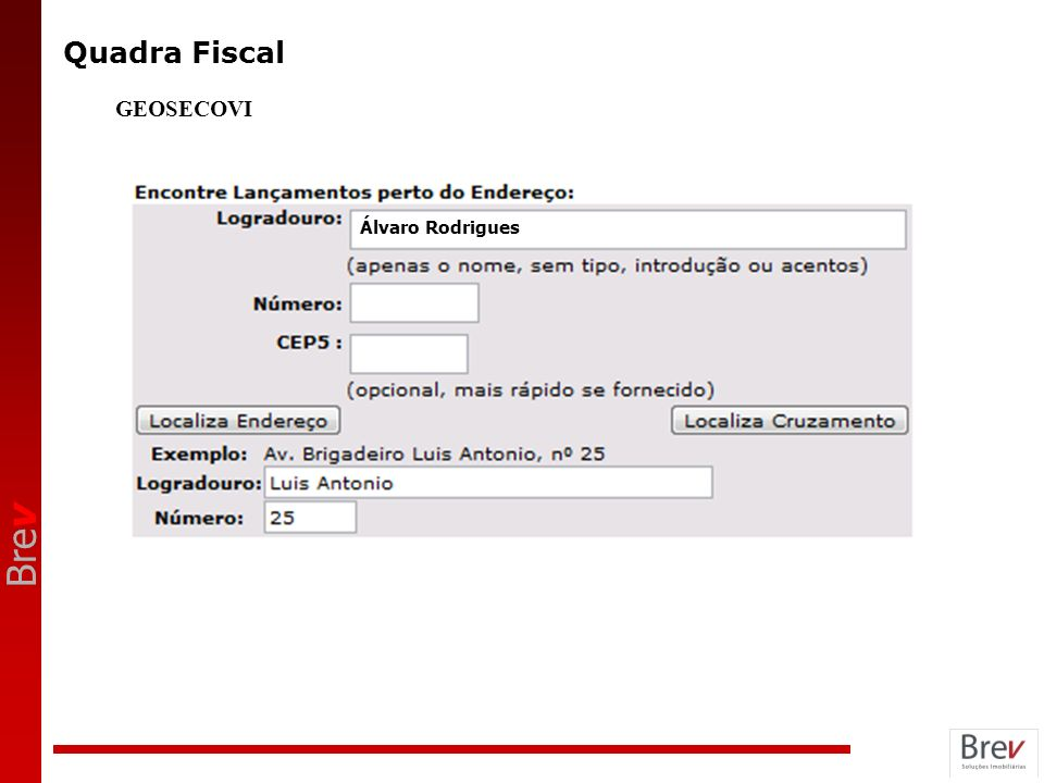 Quadra Fiscal GEOSECOVI Álvaro Rodrigues ANOTAÇÕES 7
