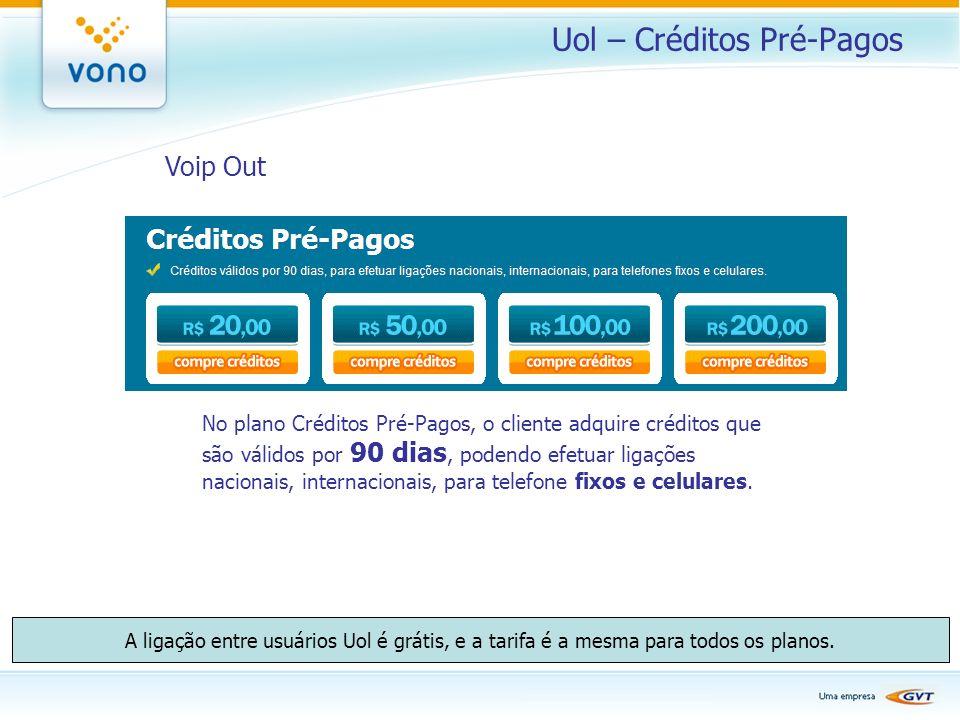 Uol – Créditos Pré-Pagos
