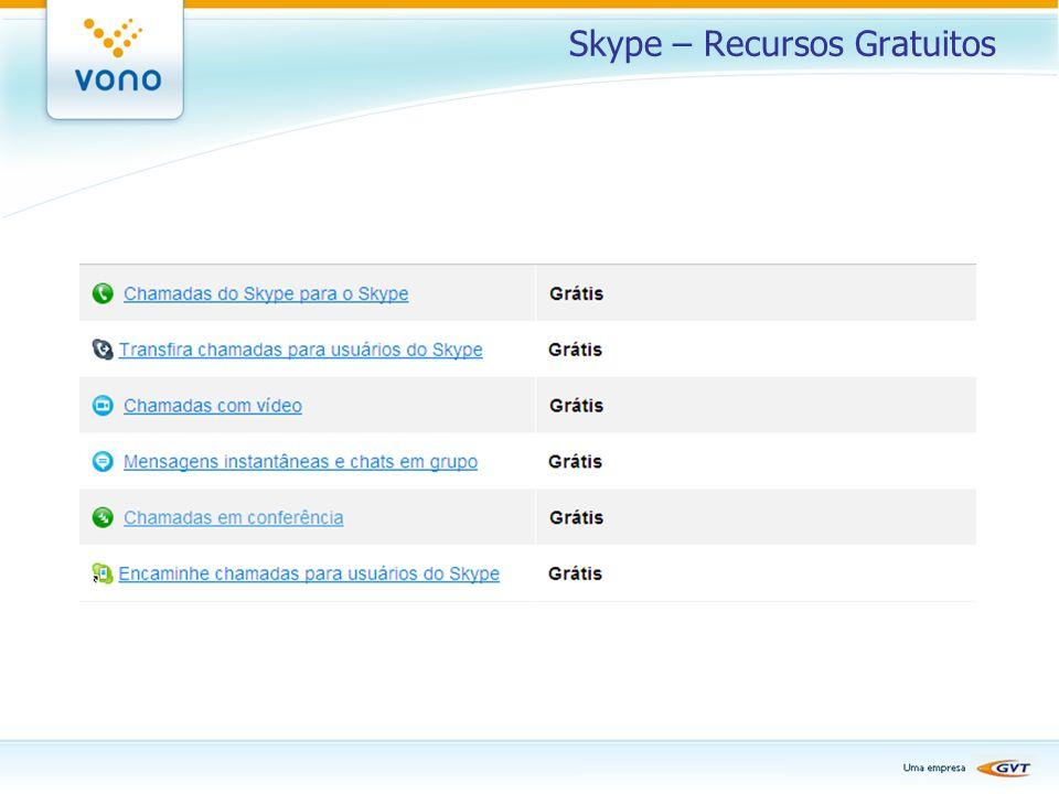 Skype – Recursos Gratuitos