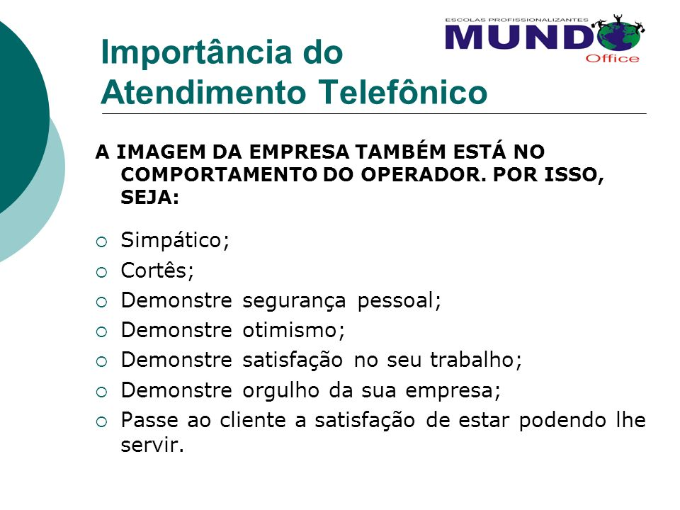 Importância do Atendimento Telefônico
