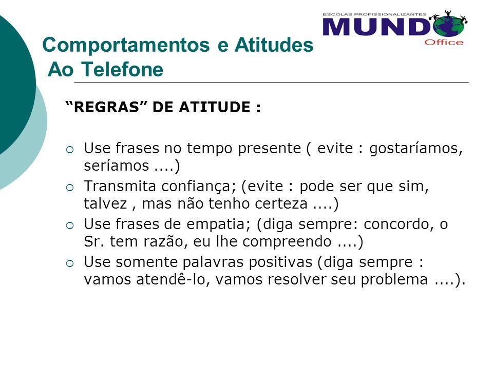 Comportamentos e Atitudes Ao Telefone
