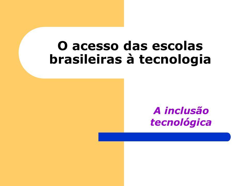 O acesso das escolas brasileiras à tecnologia