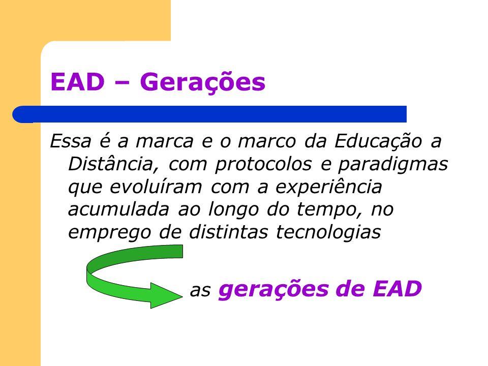 EAD – Gerações