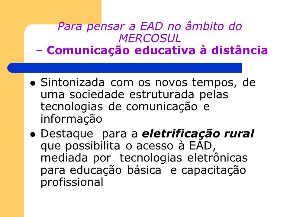 Para pensar a EAD no âmbito do MERCOSUL – Comunicação educativa à distância