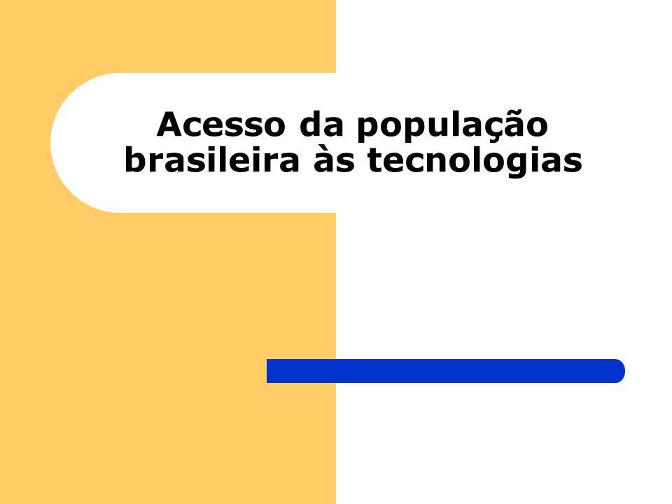 Acesso da população brasileira às tecnologias