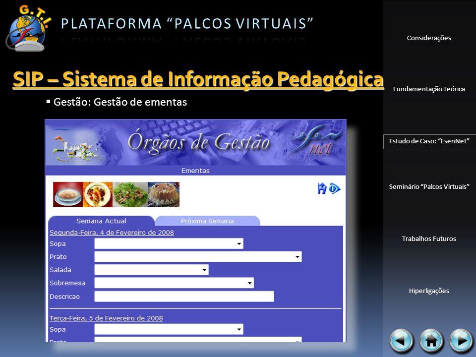 SIP – Sistema de Informação Pedagógica