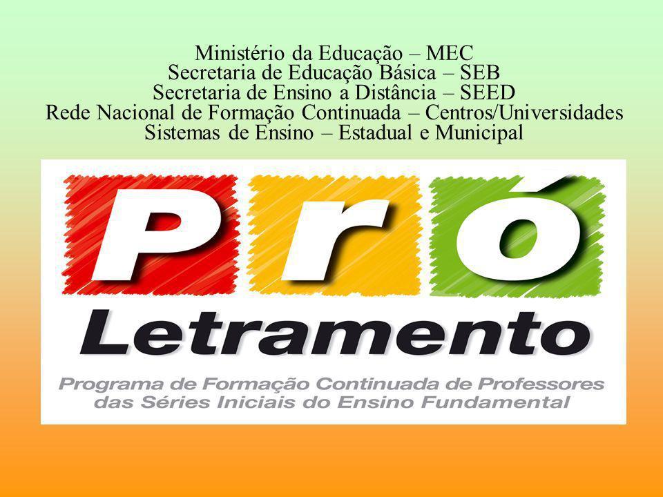 Ministério da Educação – MEC Secretaria de Educação Básica – SEB